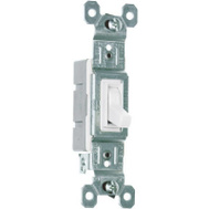 Pass & Seymour 660WG 15 Amp 120 Volt White Grounded Standard Single Pole Toggle Switch