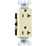 Pass & Seymour 26342I 20 Amp Ivory Duplex Receptacle