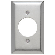 Pass & Seymour SS720CC15 1 Gang 1.576 Inch Round Opening Stainless Steel Wall Plate