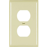 Pass & Seymour TPJ8ICC70 Ivory 1 Gang 1 Duplex Outlet Opening Nylon Wall Plate
