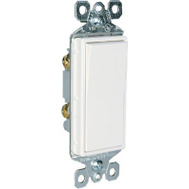 Pass & Seymour TM870WCC10 15 Amp White Grounded Premium Decorator Single Pole Switch