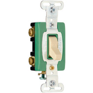 Pass & Seymour PS30AC2ICC6 30 Amp 120/277 Volt Ivory Grounding Heavy Duty Double Pole Toggle Switch