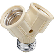 Pass & Seymour 128ICC10 Ivory Twin Light Socket