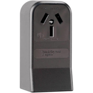 Pass & Seymour 385CC6 Black 3 Pole 3 Wire Not Grounding Surface Mount Range Outlet