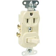Pass & Seymour 691ICC6 15 Amp Ivory Switch/Outlet