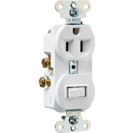 Pass & Seymour 691WCC6 15 Amp White Switch/Outlet