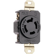 Pass & Seymour L1420RCCV3 20 Amp Black Ground Lock Outlet