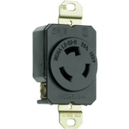 Pass & Seymour L520RCCV3 20 Amp 125 Volt Black 2 Pole 3 Wire Grounding Locking Outlet