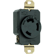 Pass & Seymour L630RCCV3 30A250 Volt Black 2 Pole 3 Wire Grounding Locking Outlet
