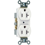 Pass & Seymour CRB5362WCC12 20 Amp 125 Volt White 2 Pole 3 Wire Grounding Heavy Duty Duplex Outlet