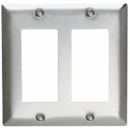 Pass & Seymour SS262CC10 2 Gang Stainless Steel Wall Plate