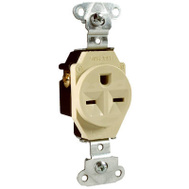 Pass & Seymour 5651ICC 15 Amp Ivory Ground Single Outlet
