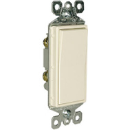 Pass & Seymour TM870LACC10 15 Amp 120/277 Volt Light Almond Grounded Premium Decorator Single Pole Switch