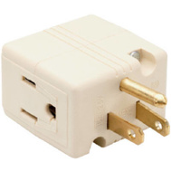 Pass & Seymour 1482ICC10 Ivory Grounded Triple Cube Adapter