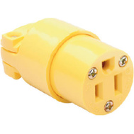Pass & Seymour 4887YCC10 15 Amp 125 Volt Yellow Heavy Duty Vinyl Construction Connector