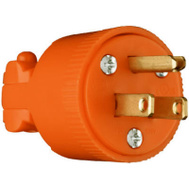 Pass & Seymour 6867OCC10 15 Amp 125 Volt Orange 3 Wire Plug