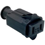 Pass & Seymour 86BKCC10 15 Amp Black Rubber Connector