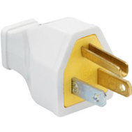 Pass & Seymour SA399WCC10 15 Amp White Residential Heavy Duty Rubber Construction Plug