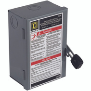 Square D L211N 30 Amp Fusible Indoor Safety Switch
