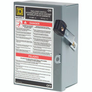 Square D L111N 30 Amp Fusible Indoor Safety Switch