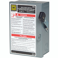 Square D L221N 30 Amp Fusible Indoor Safety Switch