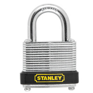 National Hardware S203-265 Stanley Laminated Padlock 1-3/16 Inch 30Mm Hardened Shackle Zinc Plated Steel