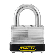 National Hardware S203-281 Stanley Laminated Padlock 1-15/16 Inch 50Mm Hardened Shackle Zinc Plated Steel