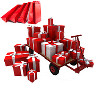 Hardware and Tools GIFT WRAP Gift Wrap Red & White - Add One For Each Product To Be Wrapped As A Gift