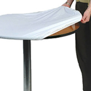 Kwik Covers 60PKW 60 Inch Round White Tablecover