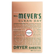 Mrs Meyers 14348 80CT Geran Dryer Sheets