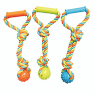 Boss Pet WB15520 Toy Pet Tug Spike Ball W/Rope