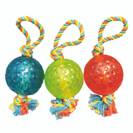 Boss Pet WB15527 Toy Pet Tug 5In Ball W/Rope