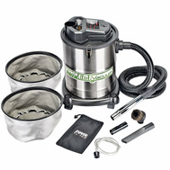 RichPower PAVC102 PowerSmith Ash & BBQ Vacuum With 4 Gallon Capacity Stainless Steel Canister 10 Amp