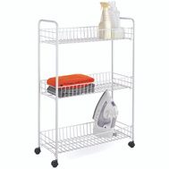 Honey Can Do CRT-01149 Cart Laundry 3-Tier White