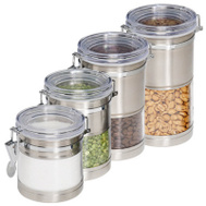 Honey Can Do KCH-01310 4PK SS Stor Canisters