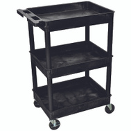 Luxor Wilson STC111-B Cart Utility Tub 3 Shelf