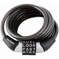 Wordlock CL-441-BK 4 Dial 4 Foot Black Cable Bike Lock