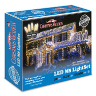 Holiday Bright Lights LEDM8-50WW-CG 50LT WW LED LGT Set