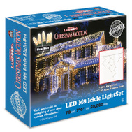 Holiday Bright Lights LEDM8IC-70WW-CG 70LT WW LED Icicle