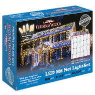 Holiday Bright Lights LEDM8NT-100WW-CG 100L WW LED Net Light