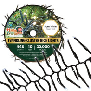 Holiday Bright Lights LED-3MCR448-GPW Lgt Reel Clstr Rc Pure Wh 10ft