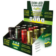 Go Green Power GG-113-COBD12 Flashlight Dsp Cob Led 12Pc