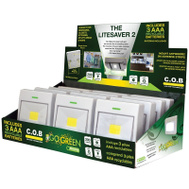 Go Green Power GG-113-RSWLT Lightsaver Rocker Switch Light 2 COB Leds 200 Lumens