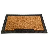 Grassworx 10376391 Clean Machine Cocoa Astroturf With Rubber Rim Door Mat