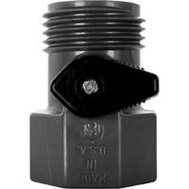 Valley Industries GHV-1-BLK-CSK Valve 3/4 Fght X 3/4 Mght