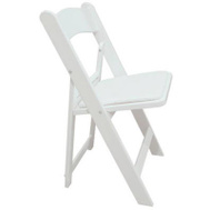 Pre Sales 2302 Wht Resin Fold Chair