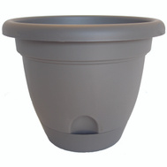 Bloem LP0860 Planter 8In Peppercorn Lucca