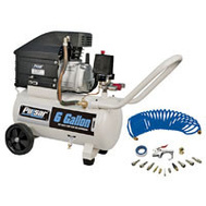 Steele Products PCE6060K 6 Gallon 3.5 Horsepower Air Compressor With Accessories