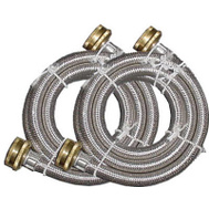Homewerks 7243-60-34-1-2PK 3/4 By 3/4 By 60 Stainless Steel Washhose
