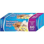 FLP 1300 Bag Snack Size Bag Zip 60Ct